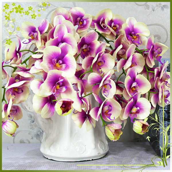Wholesale Home Wedding Decoration Blue Butterfly Orchid Flowers Artificial