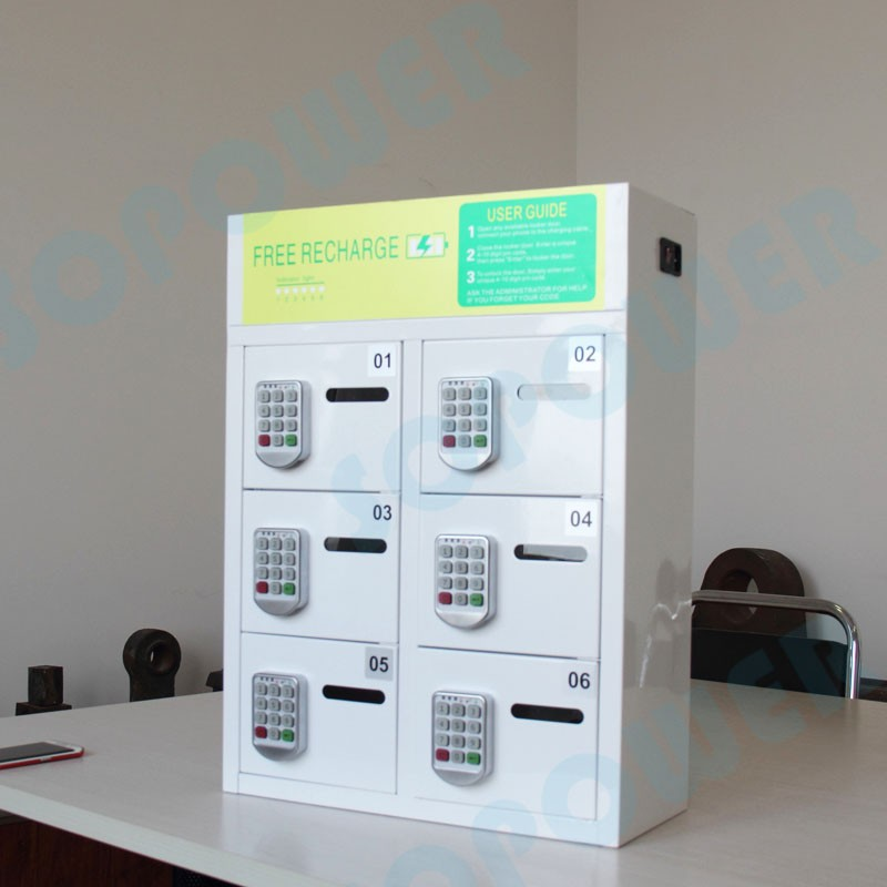 Moveable Secure Cell Phone Charging Station Locker