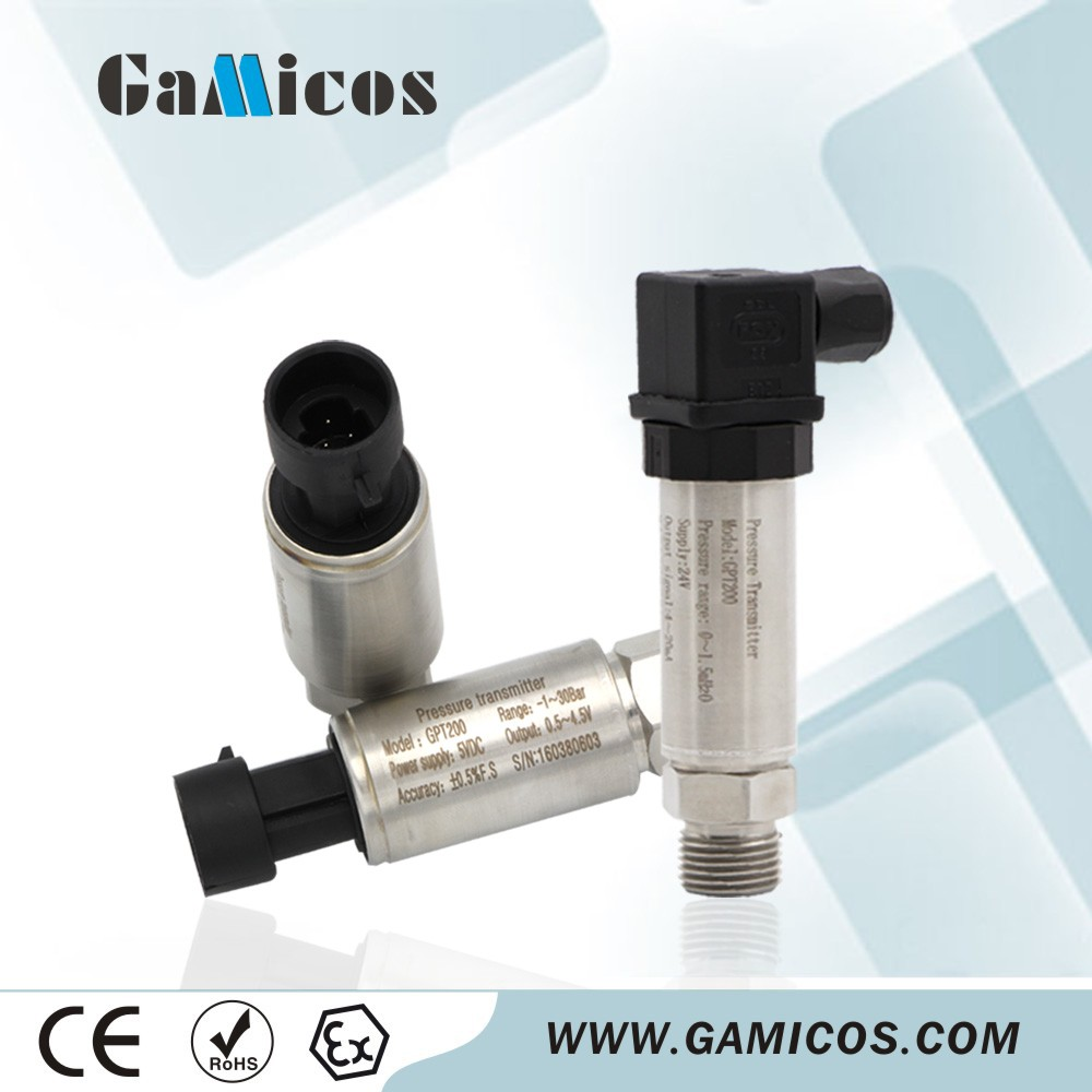 GPT200 DIN43650 Electronical Interface Pressure Transmitter in Micro Amplifier Pressure Sensor