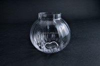 wedding decoration cheap clear small round glass vases