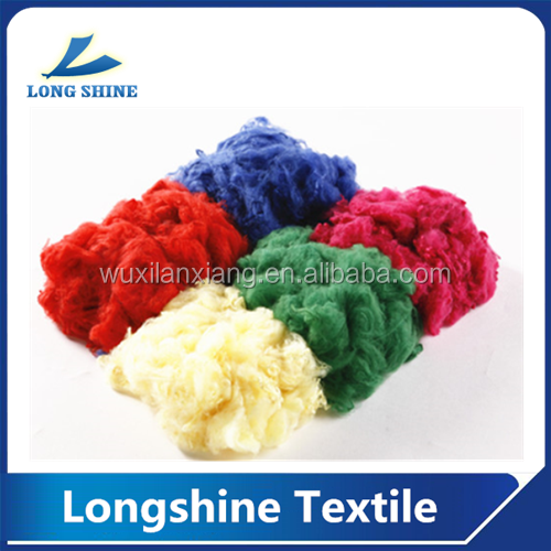 recycle doped dyed polyester staple fiber with low price