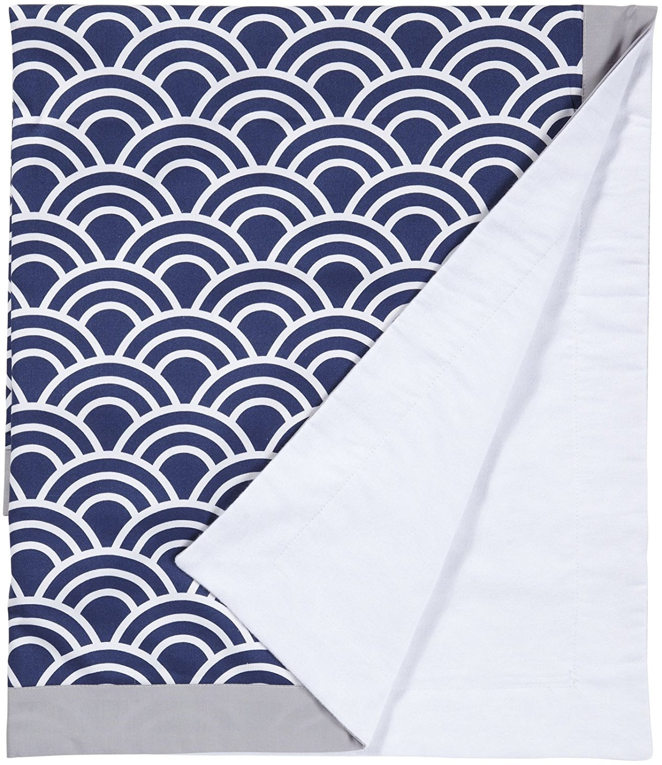 New Arrivals Hampton Bay Crib Blanket-Navy & Gray