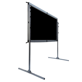 Easy folding projector screen fast fold screen foldable floor up projection