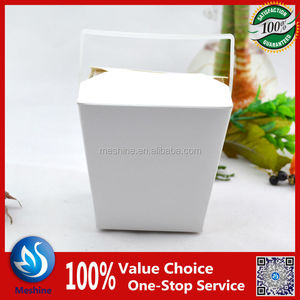 Takeout noodle box/ribs with handle or not, round/square base noodle box