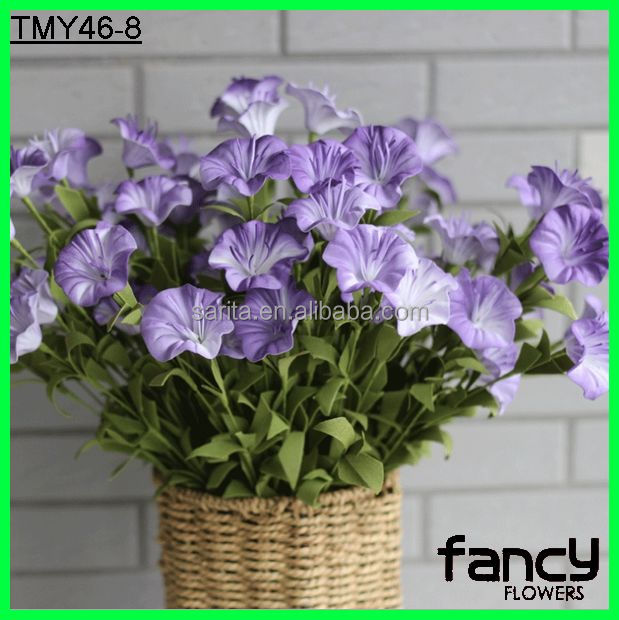 10 heads artificial morning glory for outdoor decoration