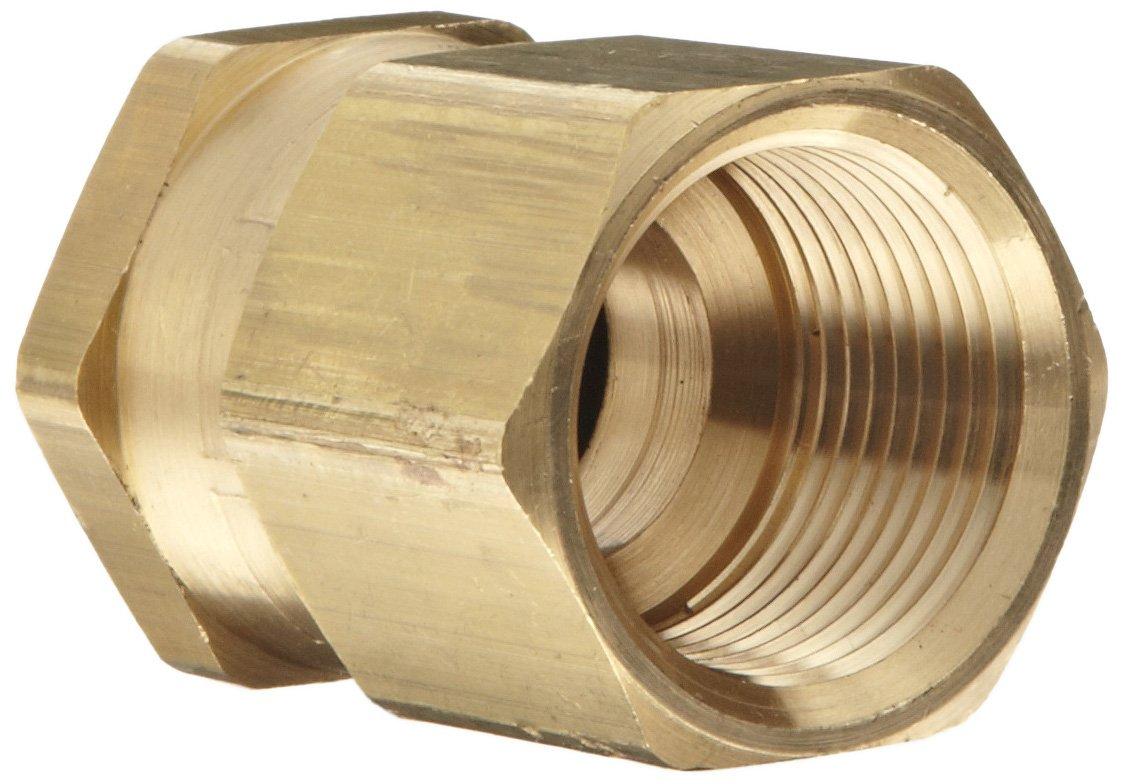 Dixon 504-1208 Brass Fitting GHT Female Swivel x 1//2 NPTF Male Adapter