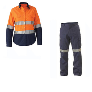 customize factory Men cotton labour uniform reflective worker suit uniform