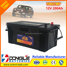 12V Heavy Duty Powerful Long Life 200Ah Truck Battery 70027MF