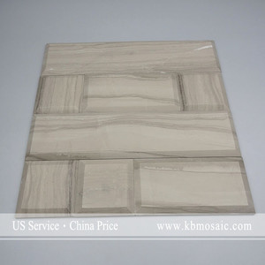 "Athens Grey Wood Marble Supplier 12""*12*3/8 brown mable floor tiles"