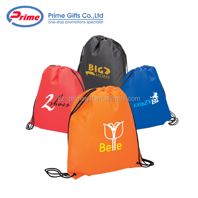 Promotional High Quality Non Woven Drawstring Sports Backpack with Custom Logo