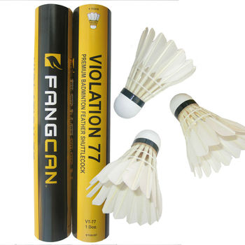 Good price duck feather durable club badminton training shuttlecock