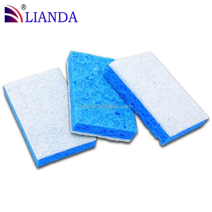 cellulose fiber pads Heavy Duty Scour Pads Greener Clean Brown Agave Fibers Non-Scratch Scouring Pad