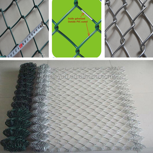 Wholesale Cheap Plastic Galvanized Used Chain Link Fence