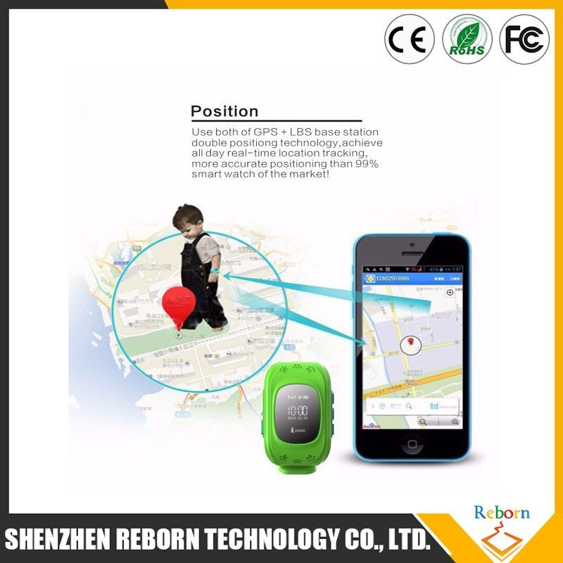 2015 best selling China market of electronic gps kids cell phone custom made tracker watch