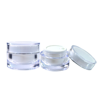 luxury diamond double wall empty cylinder 5g 10g 15g 20g 30g 50g cosmetic cream acrylic jar for packing