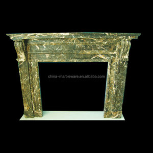 Pure hand made stone fireproof material fireplace