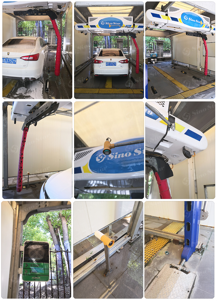 Best quality touchless car wash machine automatic car wash equipment price for sale with wheel brush optional M9