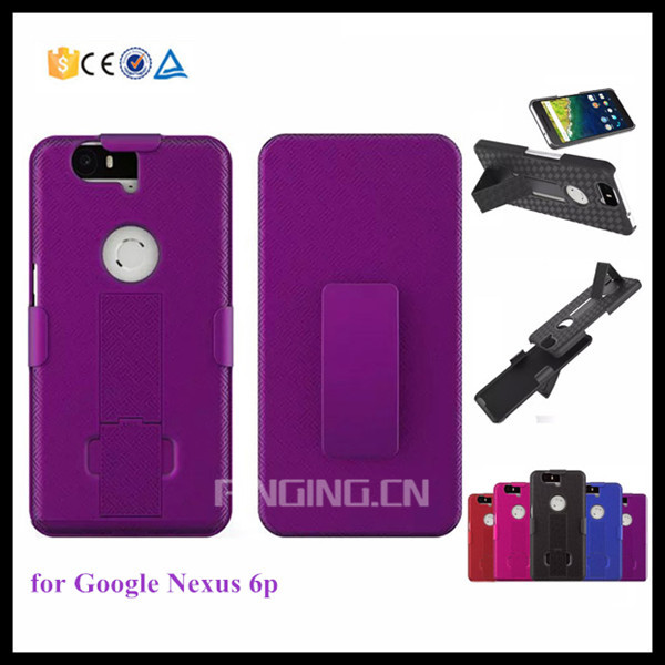 Straw mat textures belt clip holder case for Google nexus 6p hard pc cover