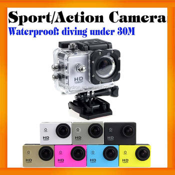 HD 720P Mini Waterproof Diving Sport camera sj4000 with 7 colors option