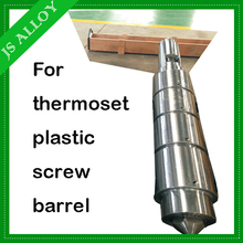 Injection screw and barrel for thermoset plastic for injection molding machinery