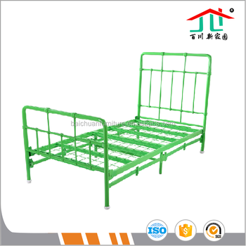 Factory Wholesale Living Room Furniture Folding Bed Metal Tube Frame