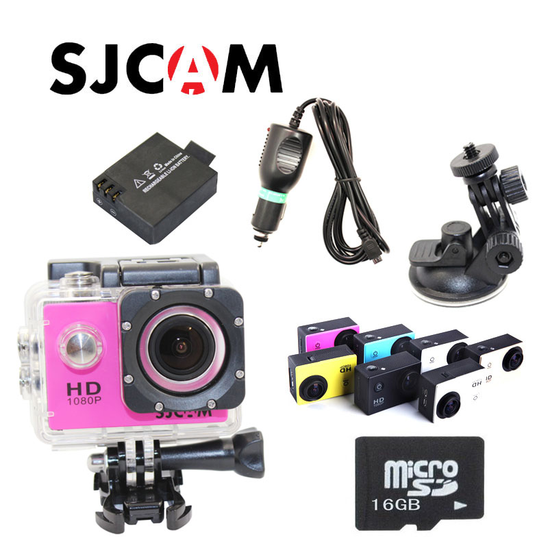 Free Shipping!! SJ4000 Sport Action Waterproof Camera+Free Battery+32 GB Micro SD card+Car Charger+Holder