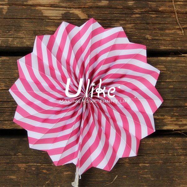 White Paper Hanging Fan Decorations x 5 - Valentines/Christmas Decorations