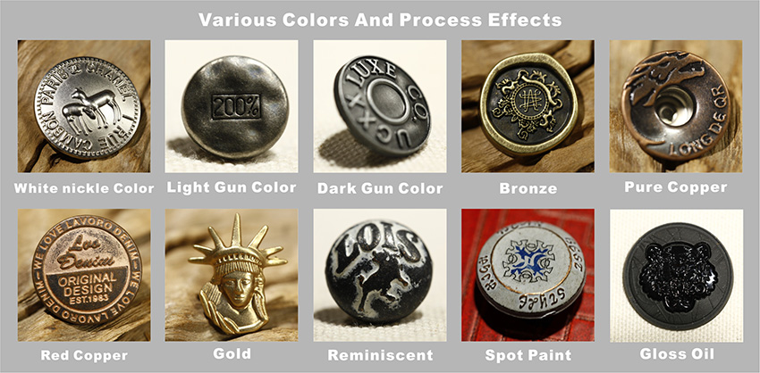 Customized professional manufacturer brass button badge From China supplier