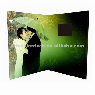 custom 1.8 inch LCD video player greeting card
