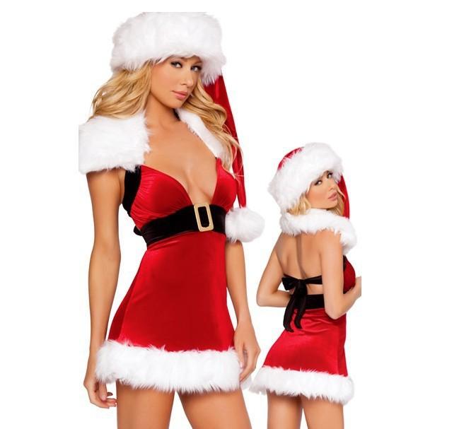 9fb0510495c Get Quotations · Christmas Santa Cosplay Dress 5RFC077 Free Shipping Cutie Sexy  Santa Dress Hot Selling Christmas Sexy fancy