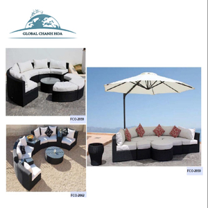 Rattan luxury sofas outdoor furniture Factory Manufacturer Direct Wholesale FCO-2082