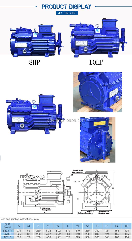 Compressore 8HP nuovo semi-ermeticamente per Raffreddato Ad Aria