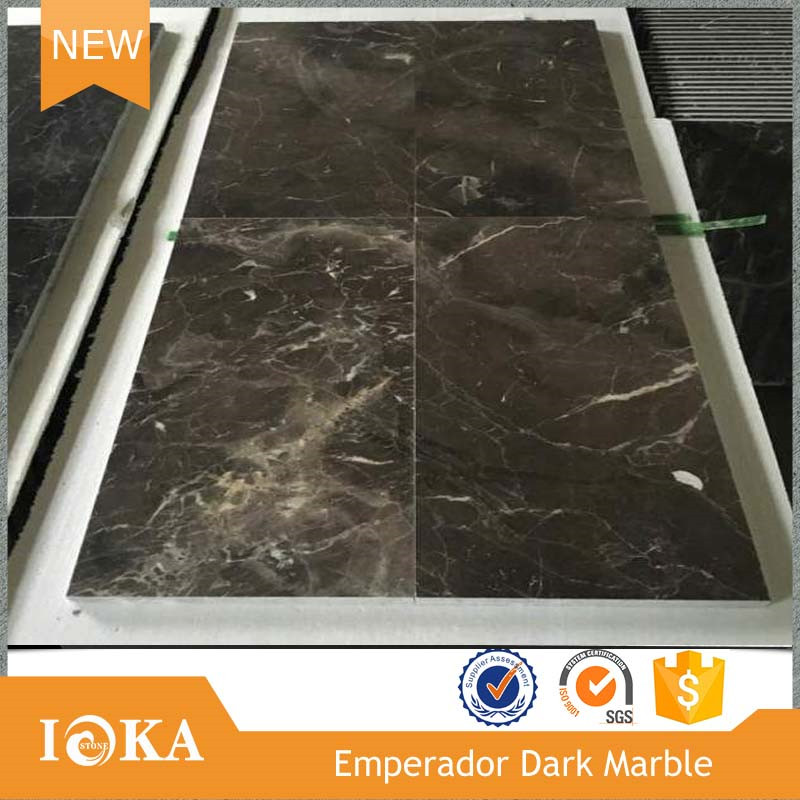 "China Xiamen Nature Marble Tumbled dark emperador 12""x12"" marble floor tile in Polished"