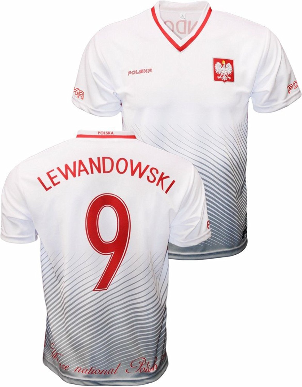 397e722b7 Youth Robert Lewandowski Polska Soccer Jersey Polish Pride Poland National  Team Zulla V-Neck Jersey