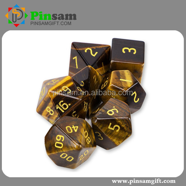 Wholesale Acrylic Dice Set Chrome Bone Dice For Board Game