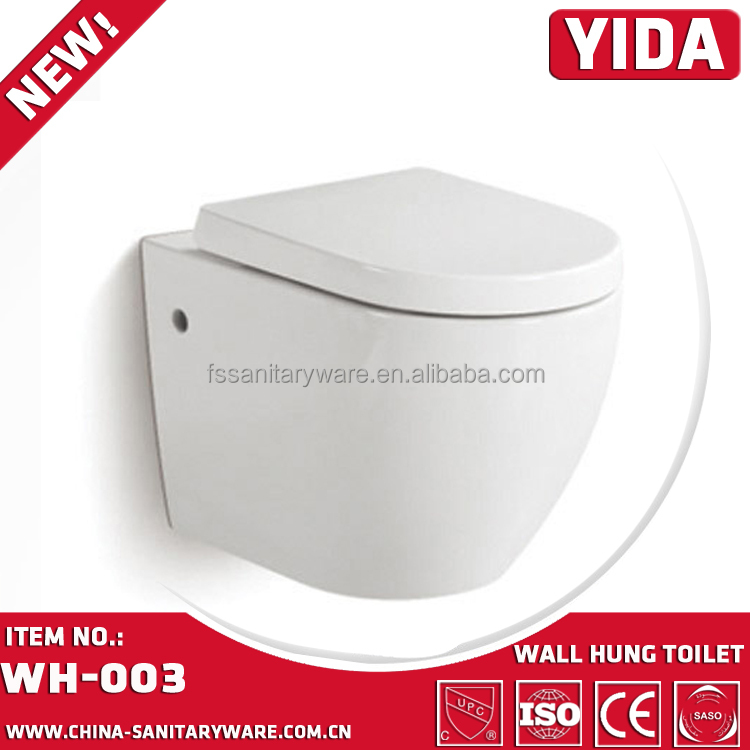 CE approval wall hung toilet,European apartment wall hung toilet wc dimension price