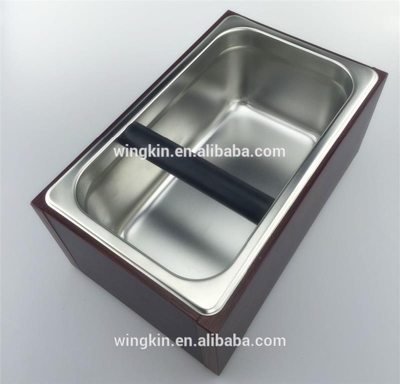 Acier inoxydable S 17X16X10 CM Conteneur en acier inoxydable pour marc de caf/é