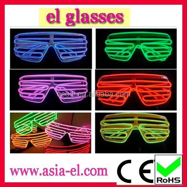 Amazing!!!Flashing light up glasses/El glasses with multi colors for dancing party
