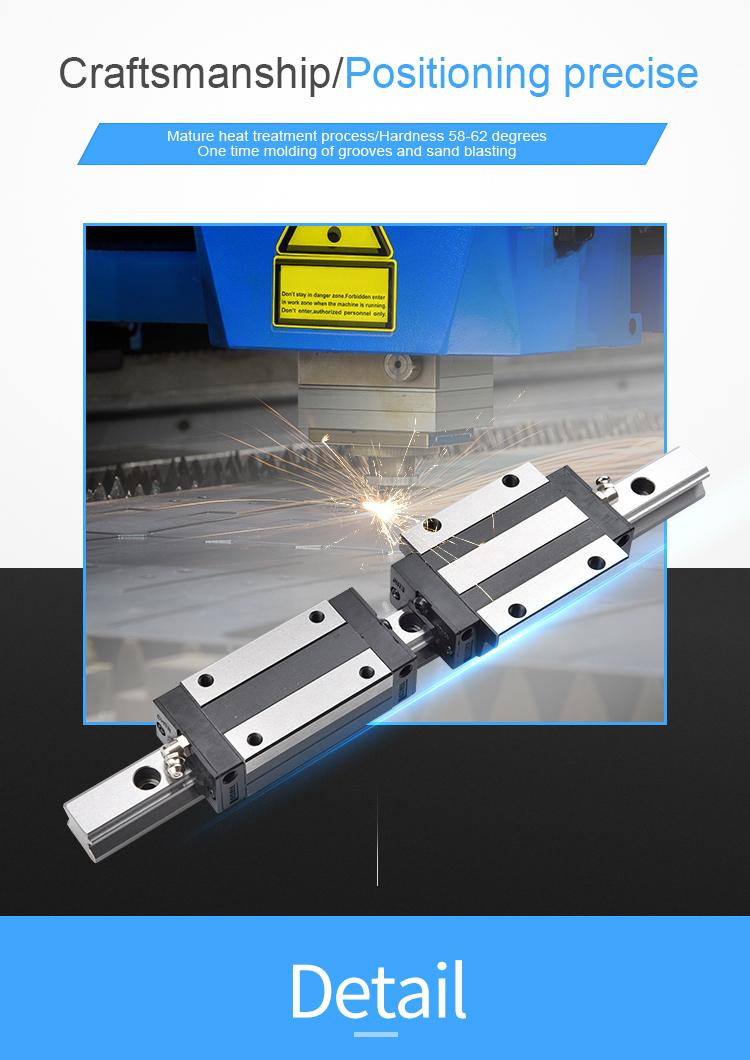 Trilhos e blocos lineares de 25mm de alta precisão