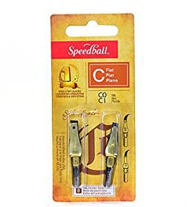 Speedball Flat Pen Nibs (C-0, C-1) 2 pcs sku# 1825784MA