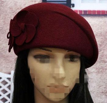 Custom Various Colors Fashion Women Wool Berets Hat Wholesale ... 69b77338e33