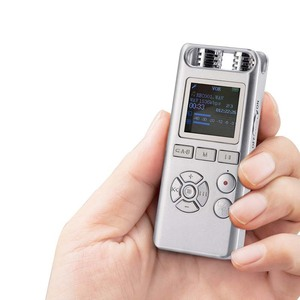 Hot selling long distance dictaphone 8gb digital audio mini voice recorder silver