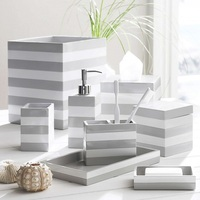 Polyresin accessory bathroom resin kit bath set for hotel
