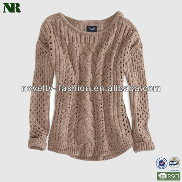 Women Pointelle Sweatersladies Stylish Sweaterslatest Sweater