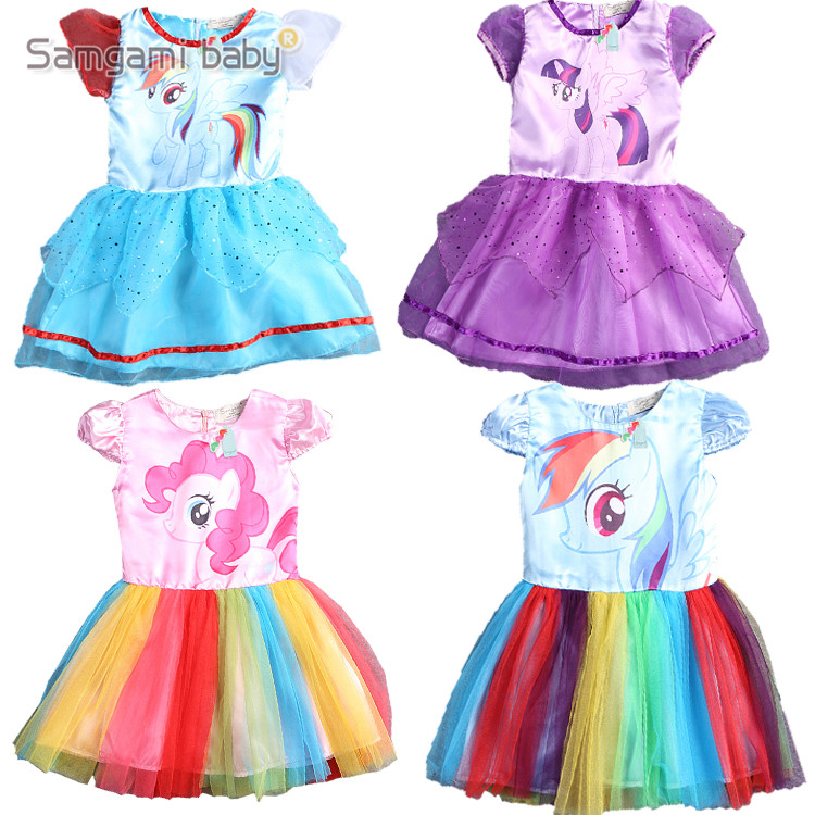 8d6abf971234f 2016 New summer dress little Girls Dress my Pony Spring Girl Short ...