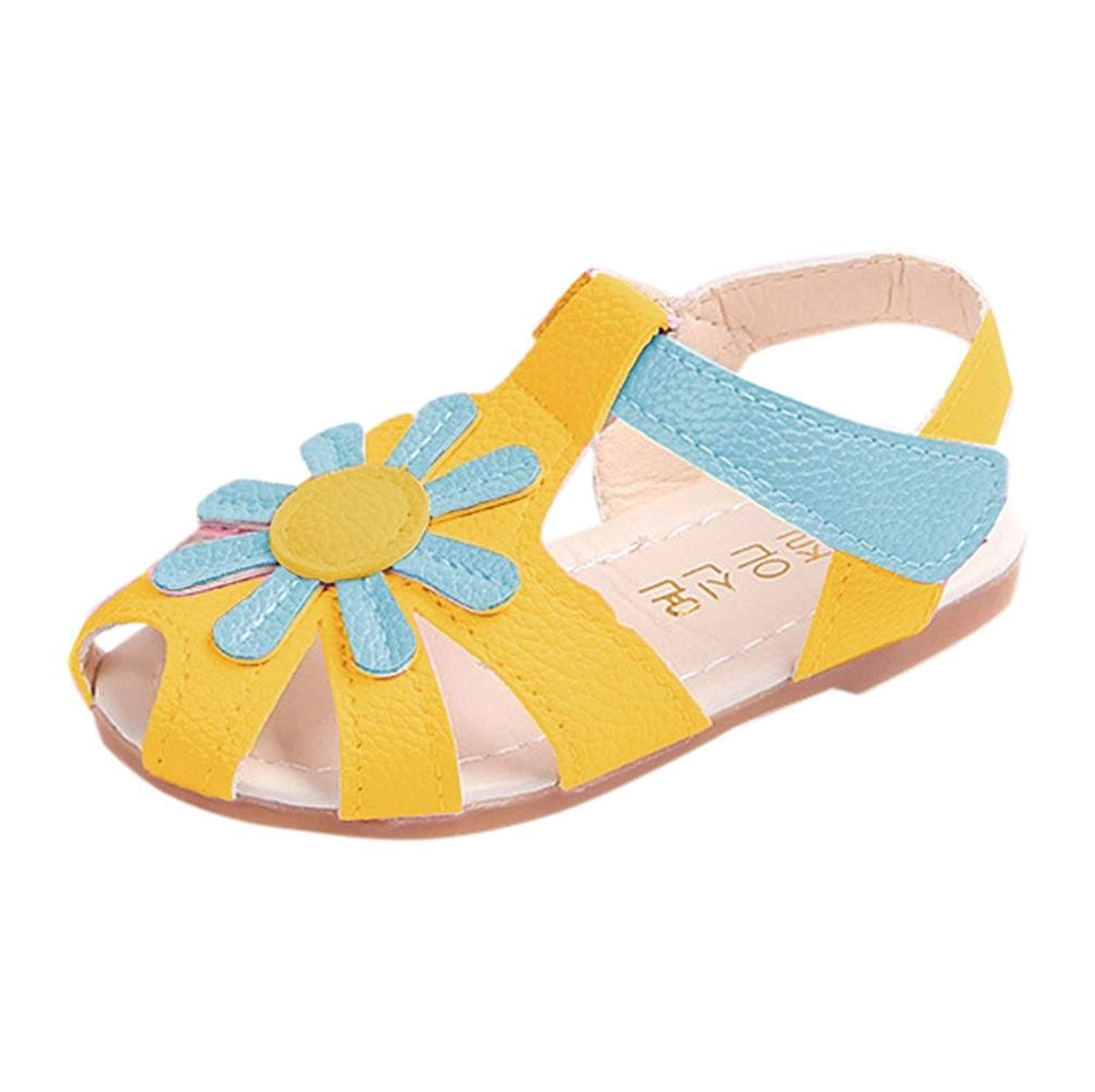 e0bfc6385c90d Get Quotations · WOCACHI Baby Girls Shoes Toddler Baby Girl Sandals  Sunflower Sole Children Princess Sandals Shoes Beach