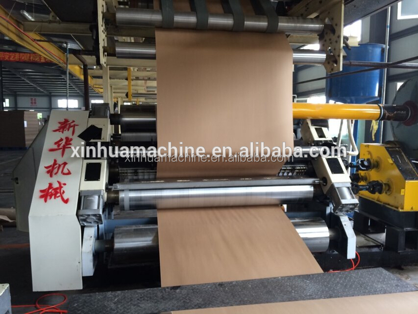 SF 280-1800mm Fingerless Single Facer Corrugated Board Machine Adopt Vacuum Absorb CE For Poland Market