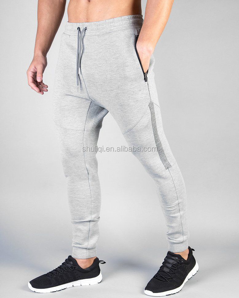 100% cotton men jogger pants custom, two tone sweatpants bulk wholesale
