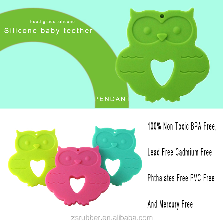 Silicone Teething Owl Shaped Teether toy for New Baby
