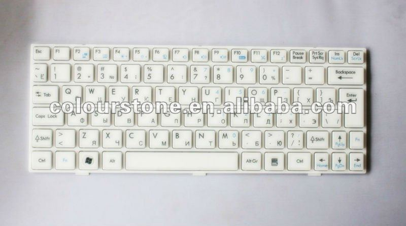 New Laptop keyboard for MSI U100 With frame Keyboard RU Version White colour